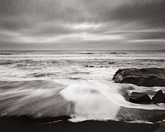 Sunset on the Coast II (american_flat) Tags: beach beaches blackandwhite blackandwhites coastal coastals photo photographies photography photos sid12022 sunset sunsets
