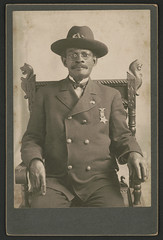 [Civil War veteran John W. Pollard, who served under the name of Private Jackson Ridgway in the 83rd U.S. Colored Troops, in Grand Army of the Republic uniform with medal] (LOC) (The Library of Congress) Tags: libraryofcongress dc:identifier=httphdllocgovlocpnpppmsca56879 uscivilwar americancivilwar thecivilwar civilwar warbetweenthestates unitedstatesofamerica usa theunion civilwarveteran grandarmyoftherepublic gar johnwpollard johnpollard jwpollard pollard jacksonridgway ridgway