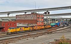 """Westbound Intermodal in Kansas City, MO (""""Righteous"""" Grant G.) Tags: up union pacific railroad railway locomotive train trains west westbound intermodal kansas city missouri double stack emd power"""