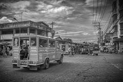 Market (Beegee49) Tags: street market traffic jeepney public transport people blackandwhite monochrome sony music sounds a6000 bw libertad bacolod city philippines asia happyplanet