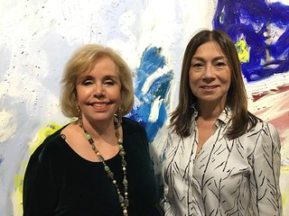Art collectors and promoters: Aida Levitan and Stella Holmes at the Art Basel VIP opening