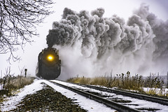 Chasing the 1225 in Bannister Michigan (TAC.Photography) Tags: steam steamtrain rr tracks railroad steamrailroadinginstitute 2018yip smoke steamsmoke nikon nikoncamera tacphotography tomclarknet holiday holidaytravel peremarquette1225 d7500 northpoleexpress