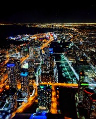 Prendre de la hauteur - from the top of the CN Tower (Gwenael B) Tags: cn toronto canada night nightshot nightphotography pixel3 shotonpixel3 pixelphone urban city lights colorful panoramic streets buildings towers cntower