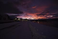 Sunrise at Arctic Seasport (O.Sjomann) Tags: sunrise soloppgang red rød skyer clouds lights lys buildings hus winter vinter snow snø arcticseasport naurstad sea sjø løding tverlandet bodø bodoe nordland nordnorge northernnorway norway norge canon7d canonefs1018
