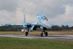 Sukhoi Su-27 UB 71 Ukrainian Force taxiing -Kleine-Brogel Spotter 7 septembre 20182018-09-07 10-34-18_0508 mod et signée (vincent.lempereur) Tags: su27 fighter chasseur avion air aircraft airshow plane militaryaircraft militaryaviation military militaryfighter