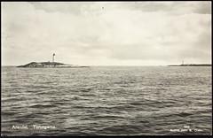 Postkort fra Agder (Avtrykket) Tags: fyr fyrtårn holme postkort sjø øy arendal austagder norway nor