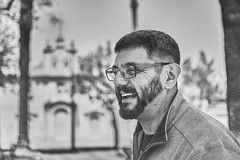 let's smile together till the end of times (theoswald) Tags: beard portrait blackandwhite carmelo uruguay shadows smile friend dof