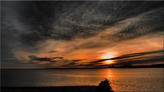 Evening sky at the Baltic Sea (Ostseetroll) Tags: deu deutschland geo:lat=5409254812 geo:lon=1081598168 geotagged lübeckerbucht neustadtinholstein schleswigholstein abendhimmel ostsee eveningsky balticsea wolken clouds wasser water sonnenuntergang sunset olympus em10markii