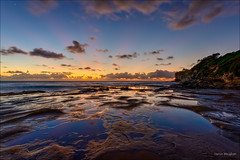 Here's some in advance (JustAddVignette) Tags: australia bluehour cloudmotion clouds dawn deewhy firstlight headland landscapes newsouthwales northernbeaches ocean reflections rocks seascape seawater sky sunrays sunrise sydney water
