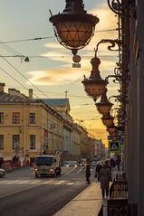 Gorokhovaya st. (Vladimir Serebryanko) Tags: stpetersburg saintpetersburg spb russia autumn lantern morning