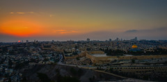 Panoramic view of Sunset of the Old City viewed from Mount of Olives - Jerusalem Israel (mbell1975) Tags: panoramic view sunset old city viewed from mount olives jerusalem israel jerusalemdistrict il jlm middleeast middle east altstadt historic ancient יְר pano vista panorama dusk evening sun walled wall yellow orange mt mountofolives dome rock golden unesco whs world heritage site worldheritagesite holy land skyline temple הַר הַזֵּיתִים olivet