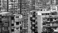 City of Cages (Wilson Au | 一期一会) Tags: macau china blackandwhite buildings highdensity monochrome fujifilm xe2 asahipentaxsmcpentaxm135mmf35 olddistrict manualfocus