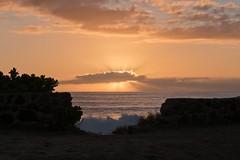 Sunset at Ulehawa Beach Park 1 (Fletch in HI) Tags: nikon d5600 tamron 16300 sky clouds water ocean oahu hawaii