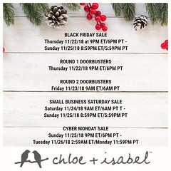 Don't get out in the cold or wait in long lines this Black Friday, shop my online boutique instead at: www.chloeandisabel.com/boutique/thecelticpearl  Here is a schedule of our Sales + Doorbusters this weekend!  #Thanksgiving #BlackFriday #Sales #Doorbust (thecelticpearl) Tags: sale gift trending christmas shop trend blackfriday buy lifetime guarantee deals discounts thanksgiving chloeandisabel sales trendy trends gifts shopping jewelry holiday2k18 boutique accessories thecelticpearl holiday candi online doorbusters save style presents fashion