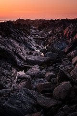 Sunset rocks (David AB Silva) Tags: sunset rocks orange viana do castelo water sky purple