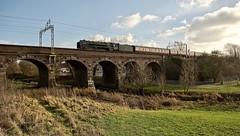 Breezin' over The Penk (Wulfruna Kid) Tags: 70000 britannia brstandardpacific britanniaclass locomotiveserviceslimited saphostrains penkridgeviaduct grandjunctionline 2019
