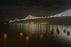 San Francisco, California: Bay Bridge Light Installation (rocinante11) Tags: california sanfrancisco baybridge night ambient ambientlight longexposure timesexposure bayarea canoneos7d