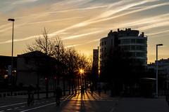 Atardecer (David A.L.) Tags: asturias asturies gijón atardecer playadeponiente sol solponiente edificio edificios