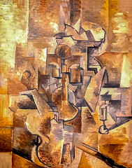 'Still Life (Violin and Candlestick)' by Georges Braque (Greatest Paka Photography) Tags: georgesbraque cubism painting art artist stilllife french pablopicasso collage founder impressionism analytic analyticcubism imagination sfmoma museum style