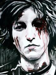Tortured (Skyler Brown Art) Tags: skylerbrown acrylic angst art artwork blood boy canvas creepy dark darkness face gothic male paint painting pale paper people portrait sad selfportrait