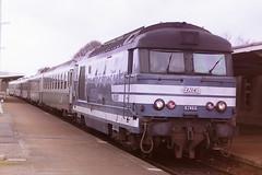 SNCF BB-67466 (bobbyblack51) Tags: sncf class bb 67400 brissonneau and lotz mte bobo diesel locomotive bb67466 argentan gare 1997