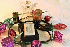 Flickr Friday # Tech (qorp38) Tags: angel batteries ornaments plug