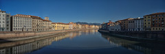 River Arno, Pisa (EricMakPhotography) Tags: river arno pisa reflection water cityscape nd1000 longexposure sony a7r