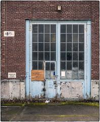 Blue Door (NoJuan) Tags: door doorway olympuspenf 35100mm panasonic35100 microfourthirds micro43 mirrorless magnusonpark seattlewa washingtonstate neglected