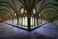 Cloisters of Salisbury Cathedral, Wiltshire, UK (Andrey Sulitskiy) Tags: salisbury england uk wiltshire