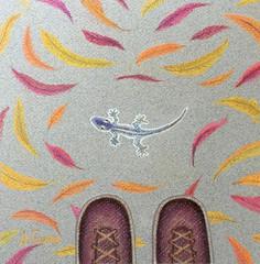 """Live leaf"" или ""Привет из Флориды"" (Anne Gavr) Tags: lizard leaf drawing pastel"