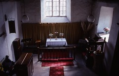 In St Marys Craswall (cycle.nut66) Tags: contax 139 quartz distagon 3528 carl zeiss kodak ektachrome 100 scan analogue epson 4490 scanner st marys craswall herefordshire window light flowers church christian worship old jesus