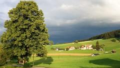 DSC05355 (ursrüegsegger) Tags: linden juli august getreideernte bauernhöfe landschaft regenbogen