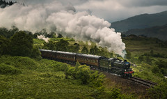 The Jacobite (GenerationX) Tags: barr canon6d glenfinnan neil scotland scotrail scottish thejacobite westcoastrailways westhighlandrailway carriages clouds grass green hogwarts landscape mountains railway sky steamlocomotives steamtrain train trees