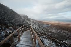 Cuilcagh Boardwalk (Johans tilted tripod) Tags: northernireland landscape boardwalk enniskillen ireland winter harsh wind snow winterbeauty