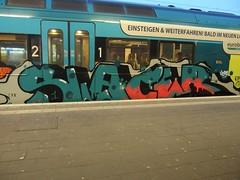 SLAYER (mkorsakov) Tags: münster hbf bahnhof mainstation zug train rb65 graffiti piece bunt colored oldschool slayer herbe