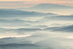 Rhodope Mountain (DobriMv) Tags: ridges birds eye view rhodope mountain mist fog valley bulgaria eastern europe balkans travel hiking nature outdoor landscape