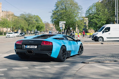 Covered in blue. (dutchwithacamera) Tags: murcielago lamborghinimurcielago lamborghini lambo carphotography car cars carspotting carphoto carspot canon canoneos canoneos5d munich munichstreets