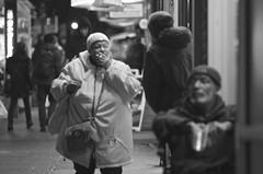 I'm sorry, this is my last cigarette. (Capitancapitan) Tags: cigarette woman black white street photography pentax riverdale bronx manhattan nyc new york