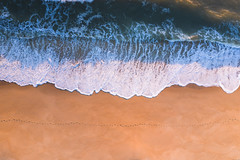 Steps In The Sand (from above) (Mike Ver Sprill - Milky Way Mike) Tags: steps sand aerial view birds eye flying drone island beach belmar new jersey nj beautiful sunrise sunset warm ocean whitewater sea seascape top down
