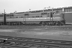 Boston Maine E7 #3819 at Boston, MA (Houghton's RailImages) Tags: bm bostonmaine emd e7 boston diesel locomotive bw trains locomotives massachusetts usa railroad