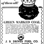 Vintage Advertising For Green Marked Coal For Home Heating In The Wisconsin State Journal Newspaper (Madison, Wisconsin), December 5, 1937 thumbnail