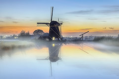 Windmill of Baambrugge (Marijke M2011) Tags: windmill sunset mist river theangstel atmosphere canon outdoors tourism landscape marijkemooyphotography nature netherlands absolutegoldenmasterpiece