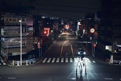 東京のどこかで (リンドン) Tags: 東京 日本 夜 交差点 自転車 道 ソニー tokyo night evening bike cycle crossing zebra japan street sony a7iii zeiss 55mm