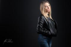 Marta (melderomero.com) Tags: model female blackbackground blonde girl beautiful beauty rock rocker leather heels