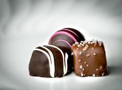 January Nemesis (The Barrel Steward) Tags: sweet chocolate truffles stripes salt caramel fattening tasty offlimits bokeh strobist sb700 nikon d810