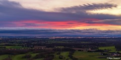Merseyside sunset (Steve Samosa Photography) Tags: sunset redsky winter wintersunlight aerial aerialview aerialphotography aerialshot droneshot dronecamera drones stevesamosaphotography merseyside whiston rainhill