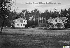 tm_11065 (Tidaholms Museum) Tags: svartvit positiv vykort postcard exterior building bostadshus exteriör byggnad