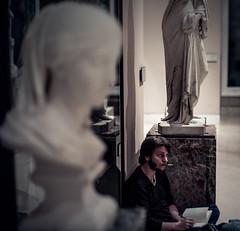 replication (N.sino) Tags: leica m9 voightlander ultron35mmf17 louvre replication student statue paris ルーブル美術館 パリ 模写 彫刻 デッサン 画学生