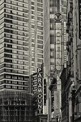 Downtown B (PAJ880) Tags: washington st boston ma theater district paramount highrises bw mono former combat zone
