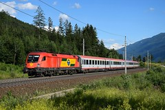 1116 063, EC 110 ( Klagenfurt > München ). Kolbnitz (M. Kolenig) Tags: 1116 eurocity tauernbahn wald berg baum